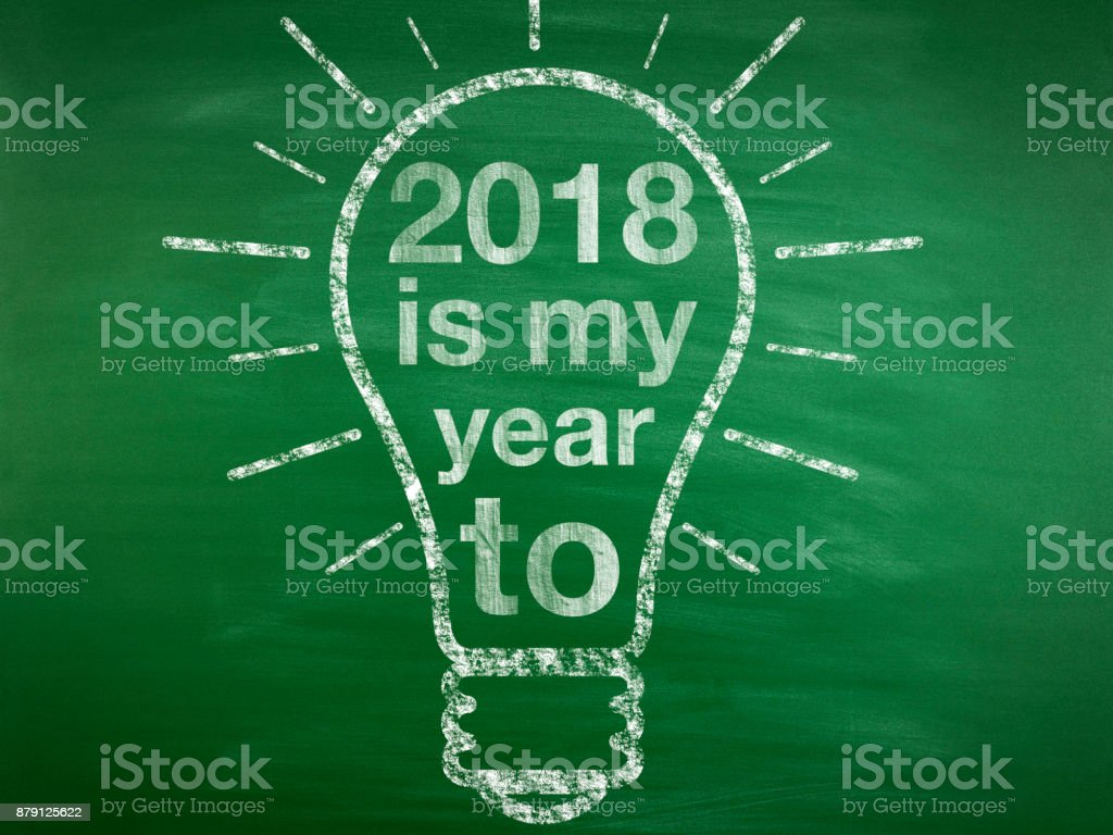 New Year Resolution Idea Concept stock photo