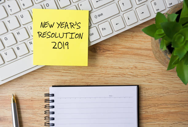 New Year Resolutions 2019 stock photo