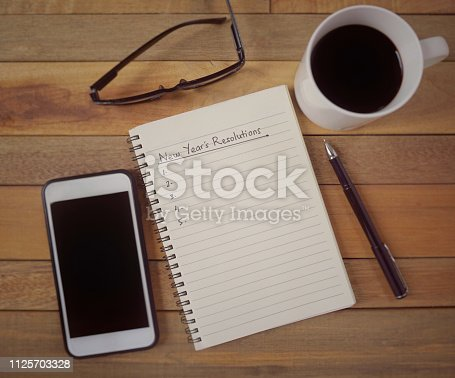 1066508880 istock photo New year resolutions concept. 1125703328