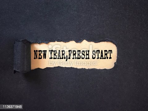 istock New year resolutions concept. 1126371945