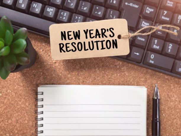 neujahr resolutionen konzept. - frohes neues jahr stock-fotos und bilder