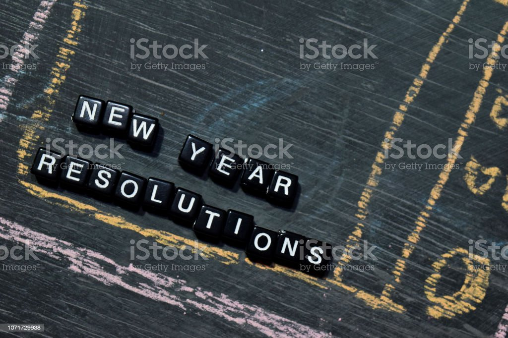 New Year Resolutions On Wooden Blocks Stock Photo - Download