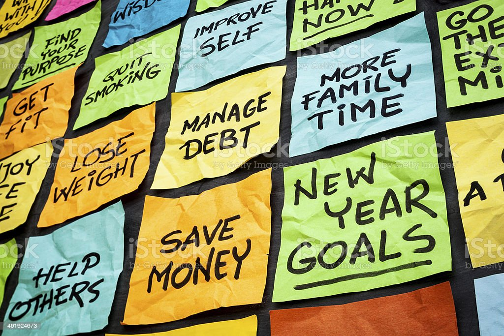 new year resolutions stock photo