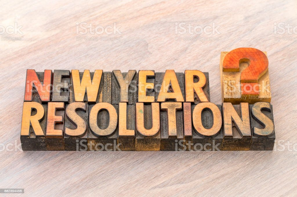 New Year resolutions question stock photo