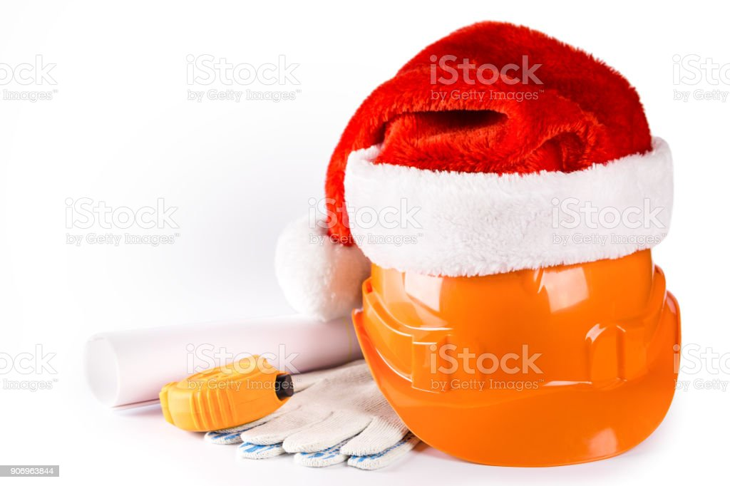New Year seasonal sale on construction service stock photo