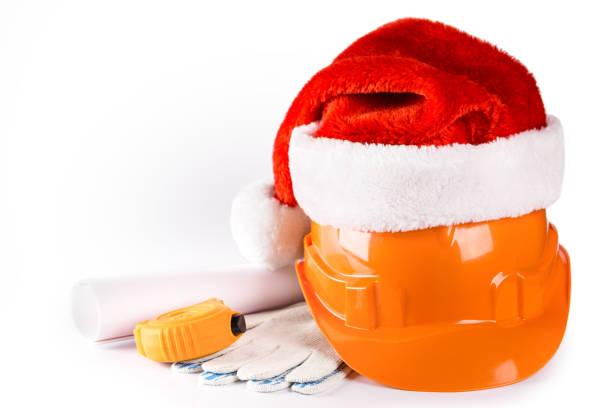 New Year seasonal sale on construction service stock photo