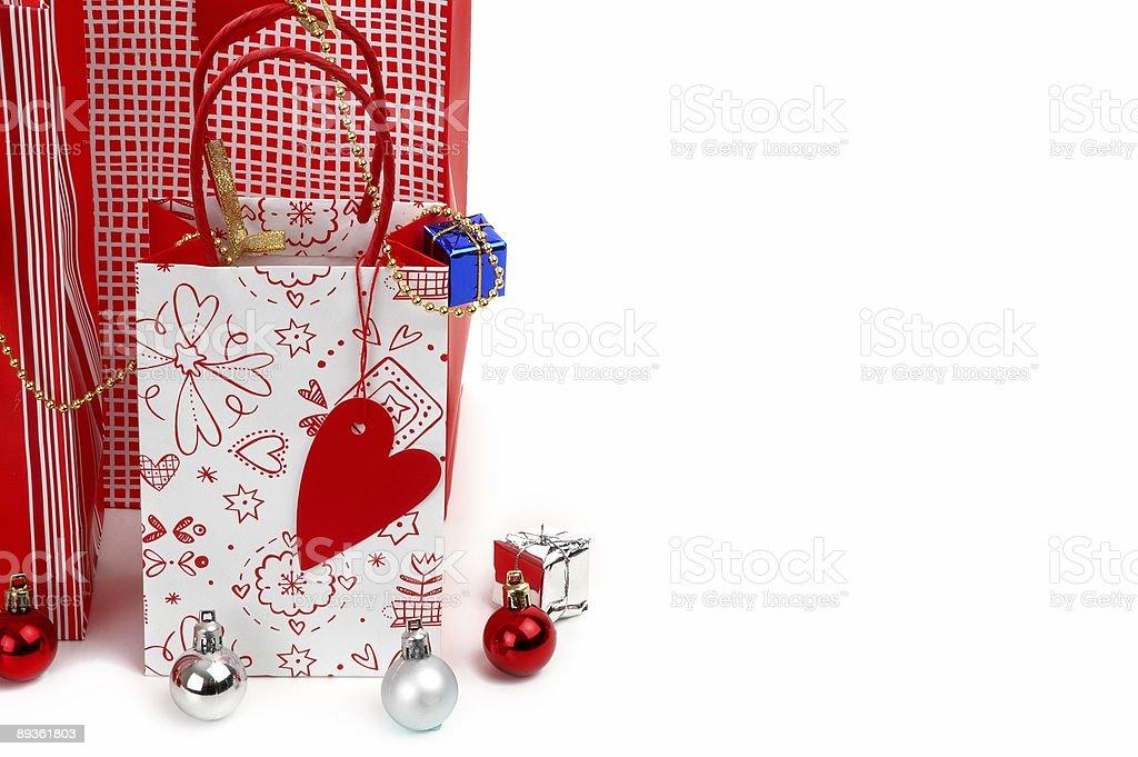 new year shopping bag royaltyfri bildbanksbilder