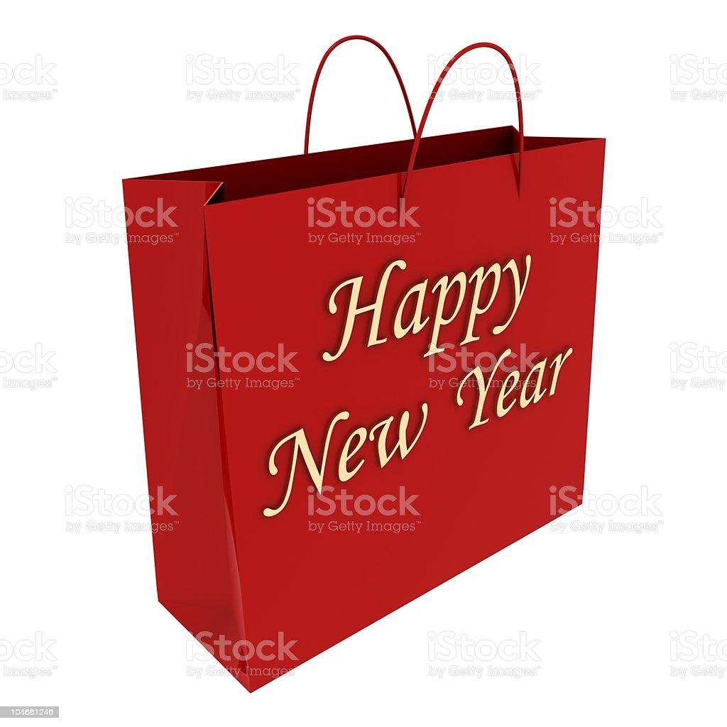 New Year Shopping stock photo