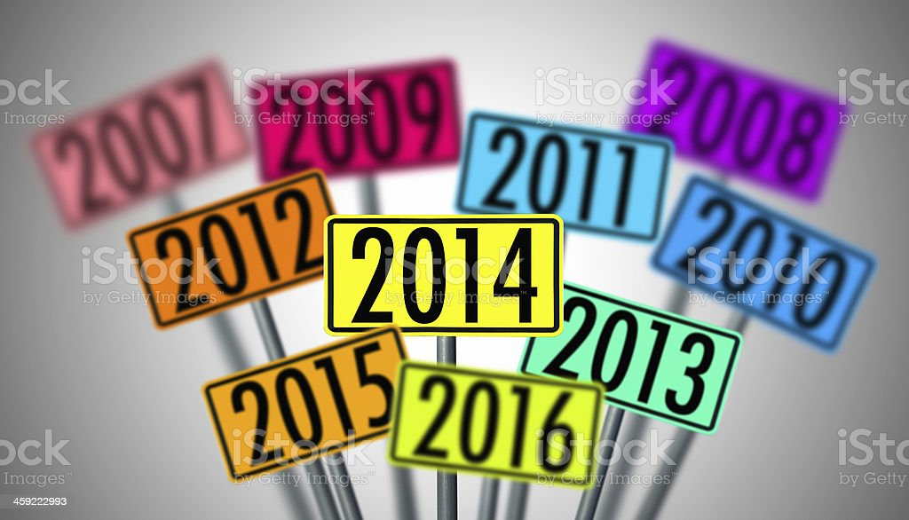 new year sign on white background royalty-free stock photo