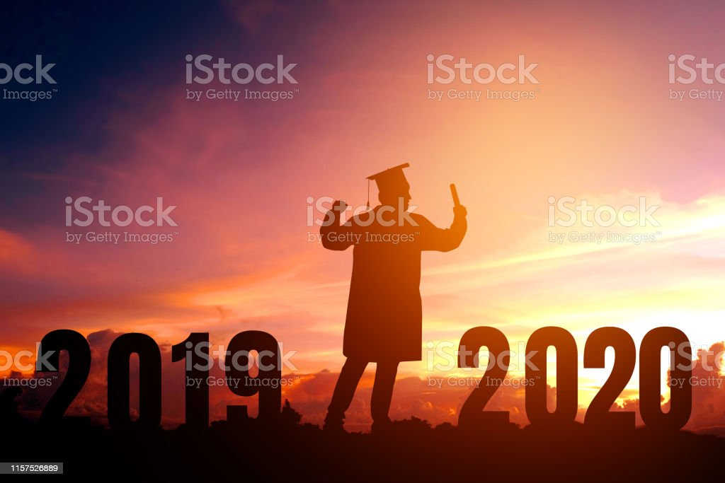 Happy Graduation 2020.2020 New Year Silhouette Young Man Graduation In 2020 Years