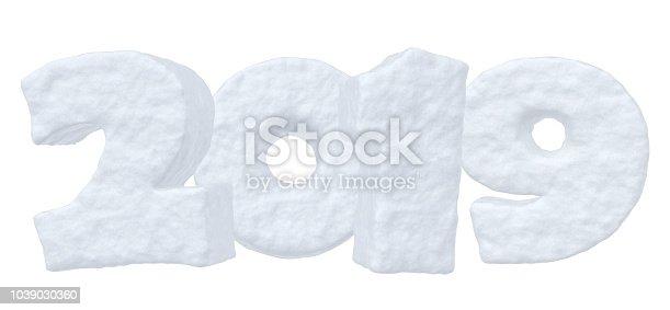 istock 2019 New Year snow text 1039030360