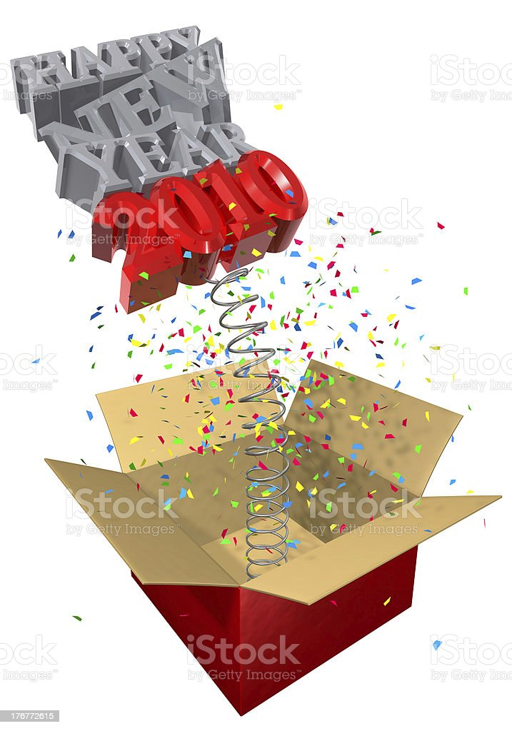 new year spring gift royalty-free stock photo