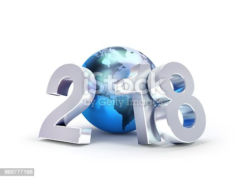 istock 2018 New Year symbol for worldwide business 865777168