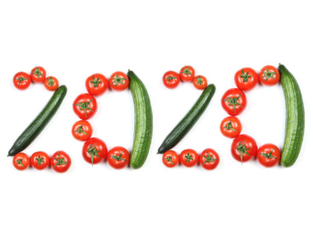New year tomatoes and cucumbers – zdjęcie