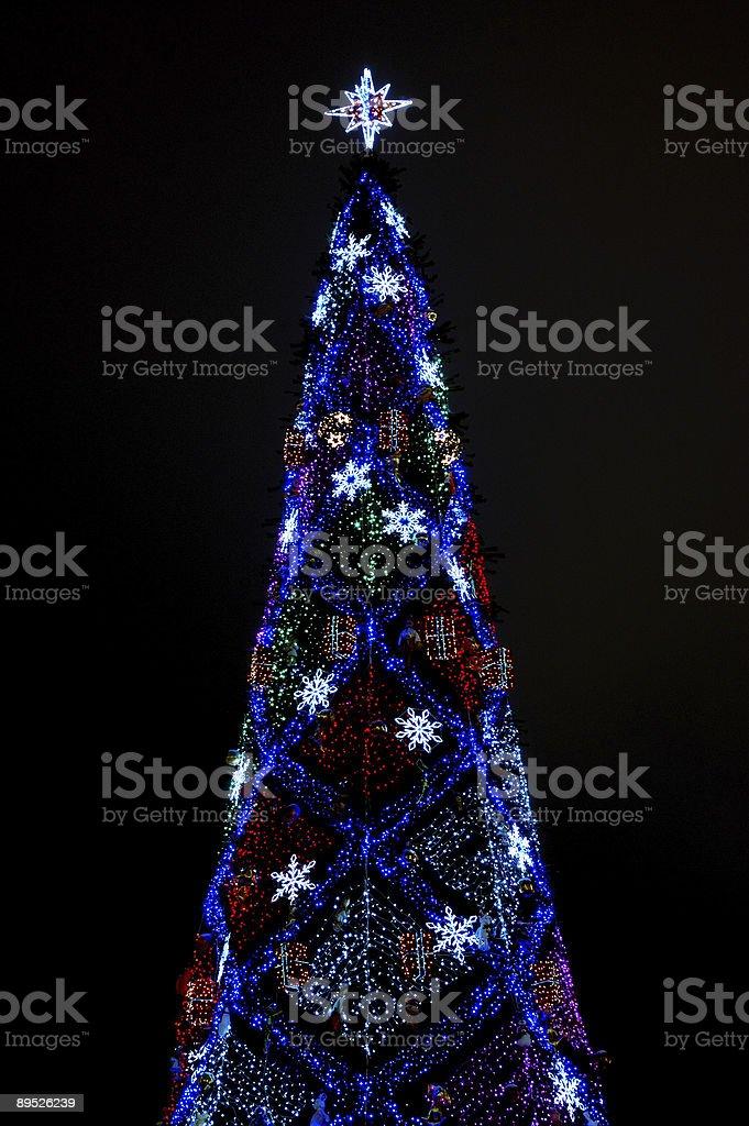 Árbol de año nuevo foto de stock libre de derechos