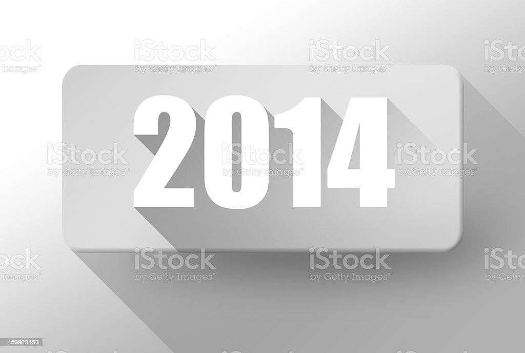 2014 New Year Widget And Icon 3d Illustration Flat Design