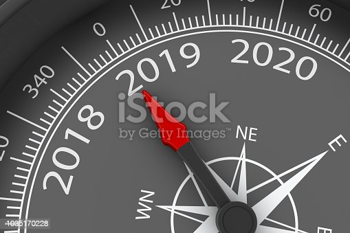 istock 2019 New Year with compass 1035170228