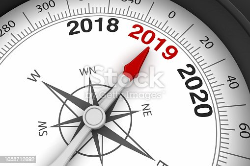 1063751940istockphoto 2019 New Year with compass 1058712692