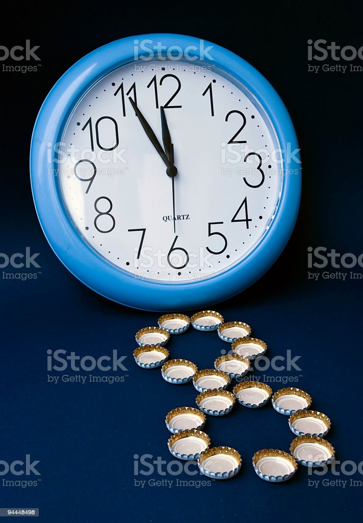 silvester-midnight stock photo