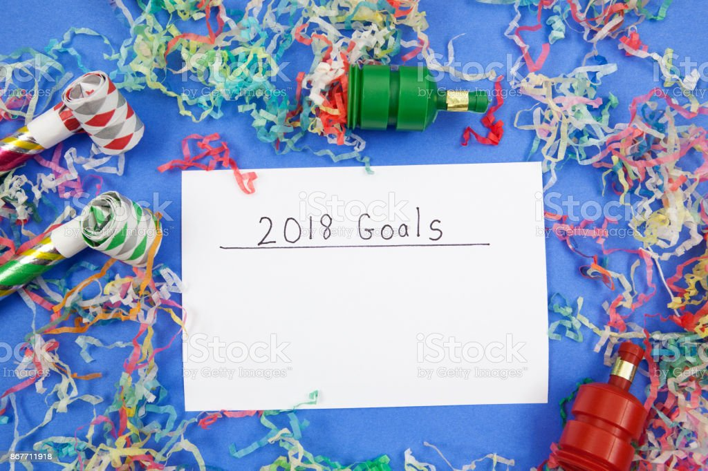 New Years 2018: Add Your Own Goals stock photo