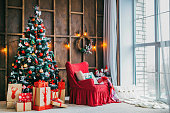 New Year's and Christmas interior