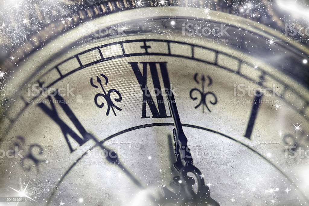 New Year's at midnight royalty-free stock photo