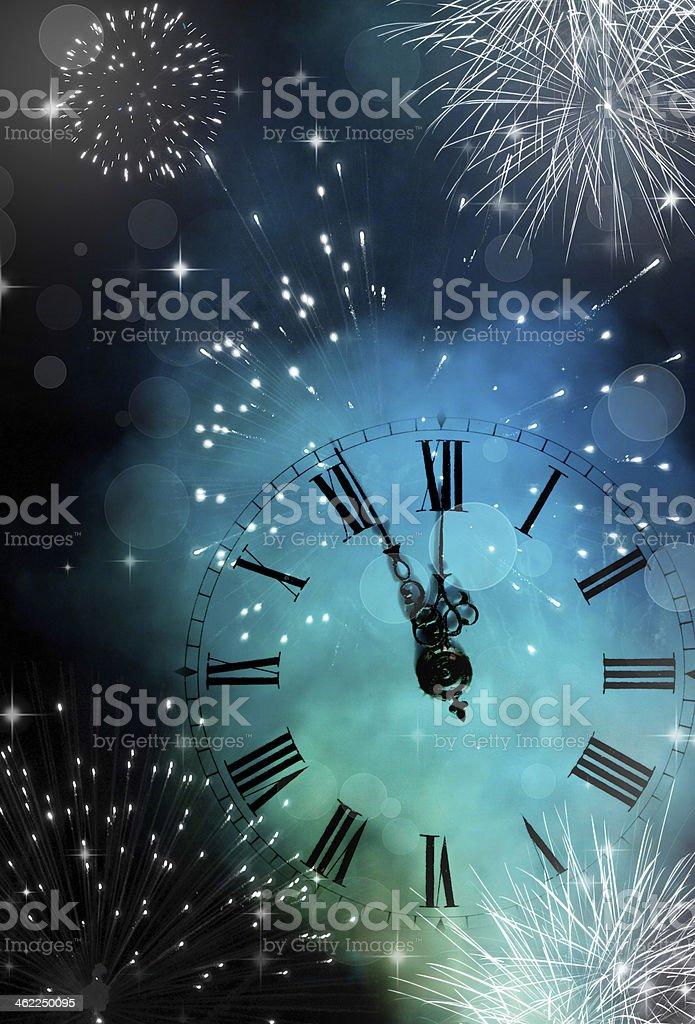 New Year's at midnight stock photo