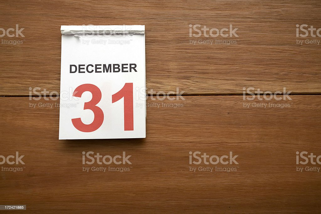 New Years Calendar stock photo