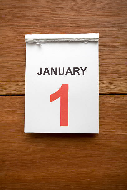 new years calendar - new years day stock pictures, royalty-free photos & images