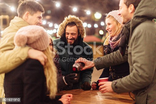 istock New Year's celebration outdoors 501931910