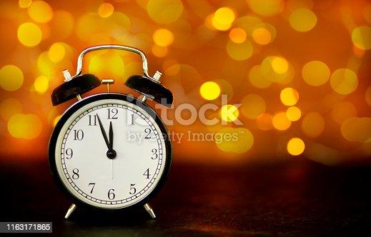 istock New Year's clock 1163171865