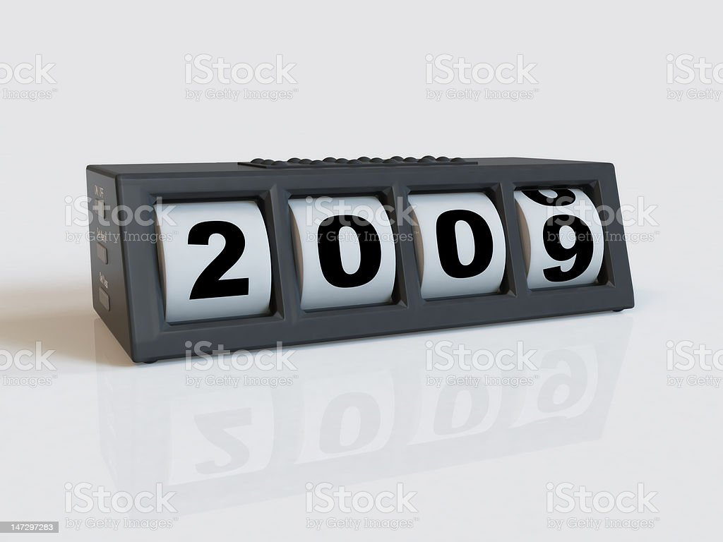 New year's clock stock photo