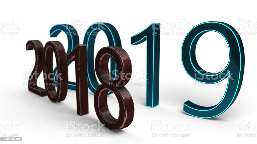 New years concept of backgorund, 3d rendering stock photo