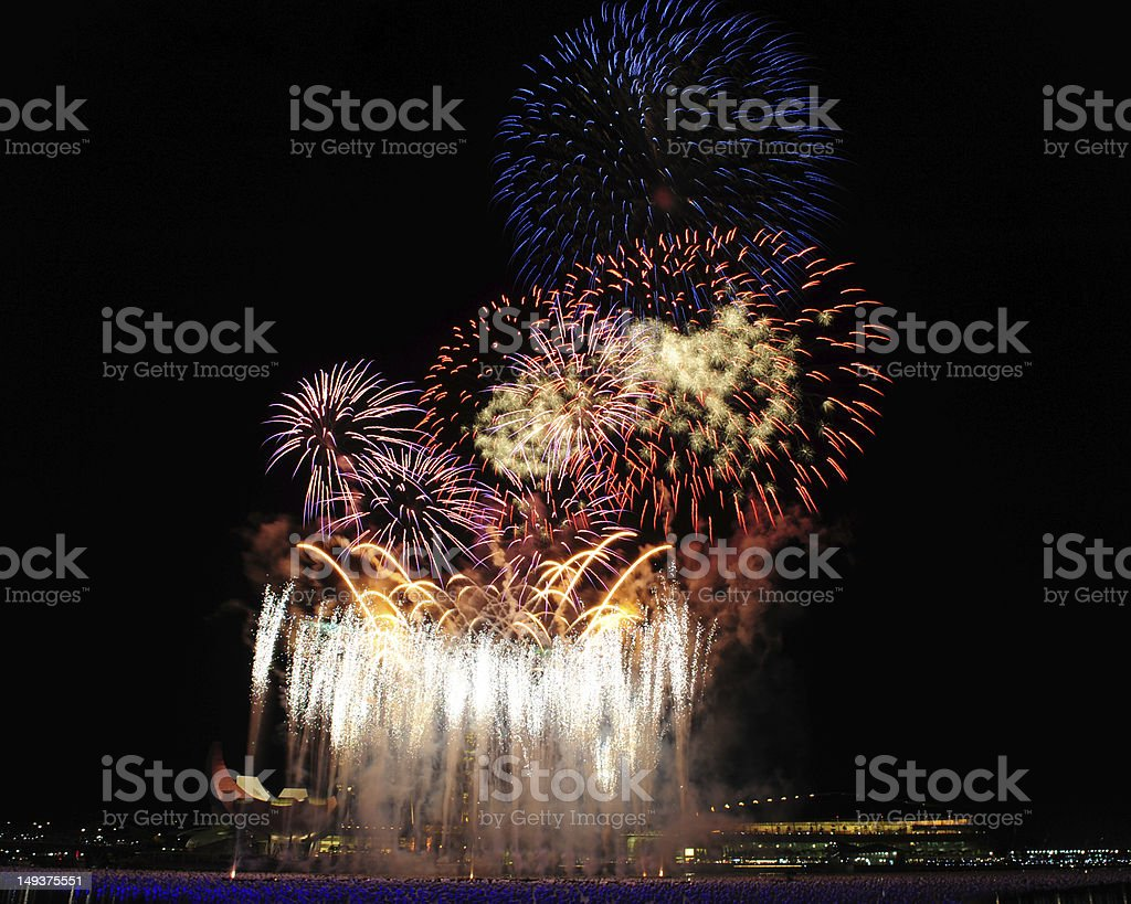 New Year's Day Fireworks stock photo