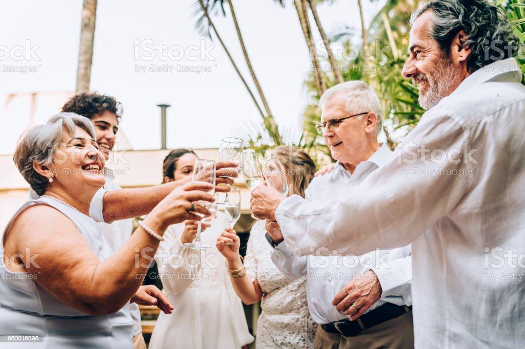 Novo dia year´s brinde celebração - foto de acervo