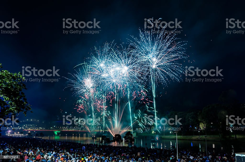 New Year's Eve 2017 stock photo