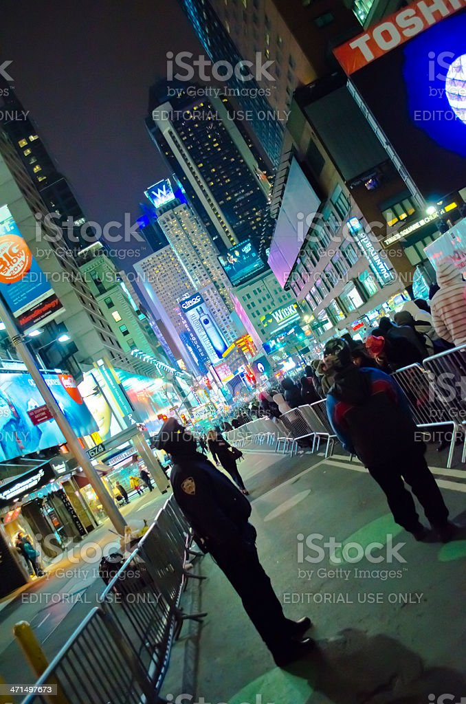 New Years Eve At Time Square, Manhattan. royalty-free stock photo