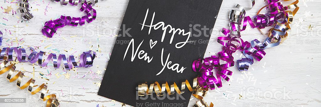 New Years Eve Background with white card – Foto