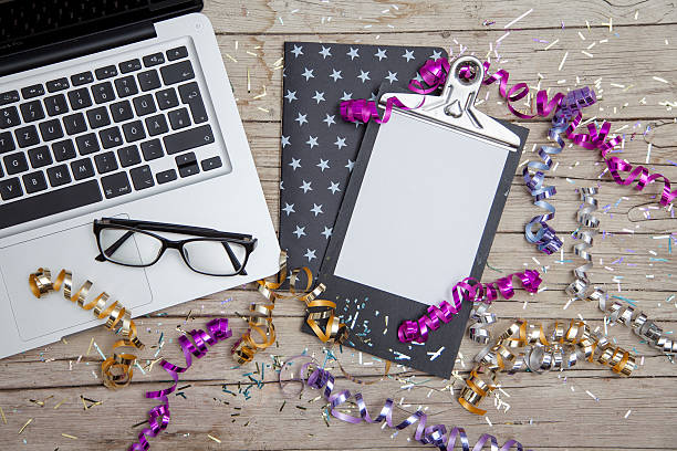 New Years Eve Business Card stock photo