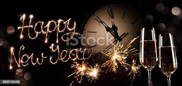 istock New Years Eve celebration background 895518446