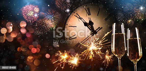 istock New Years Eve celebration background 895518468
