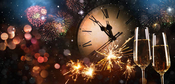 new years eve celebration background - countdown stock pictures, royalty-free photos & images