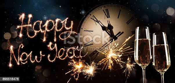 istock New Years Eve celebration background 895518478