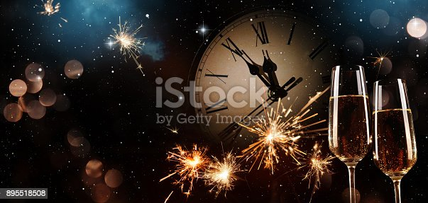 istock New Years Eve celebration background 895518508
