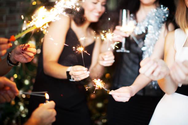 New Year's Eve celebration stock photo