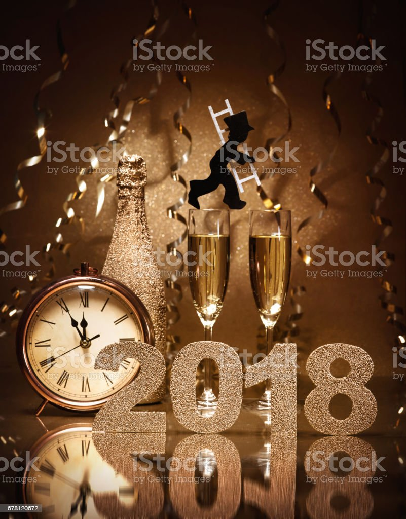 New Years Eve celebration stock photo