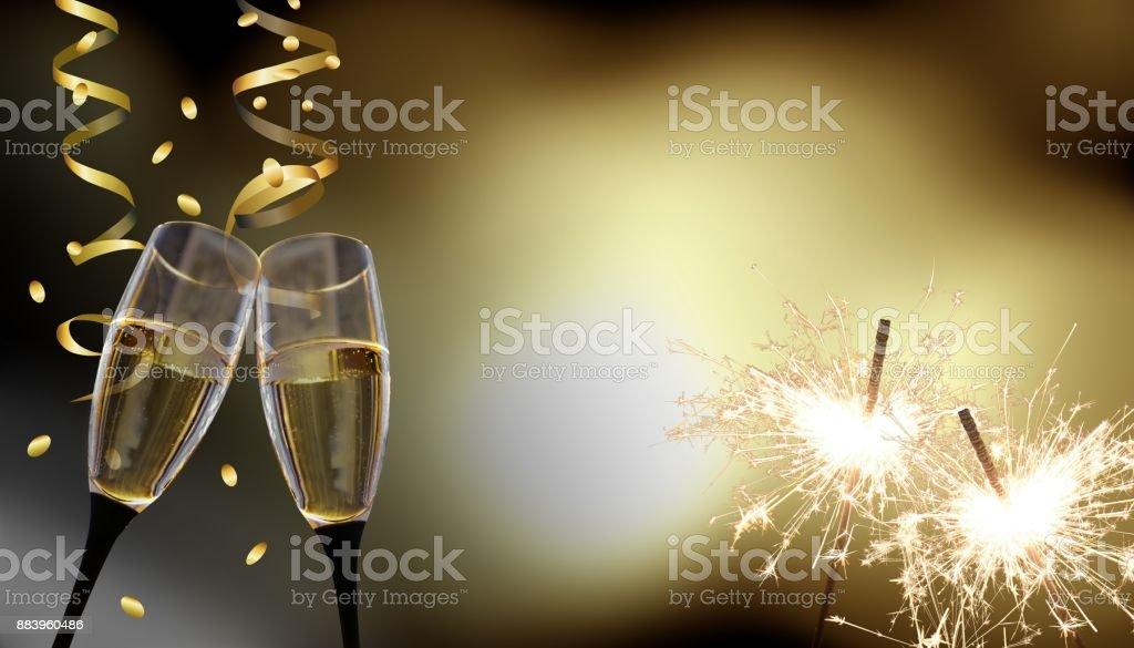 New Year's Eve / celebration stock photo