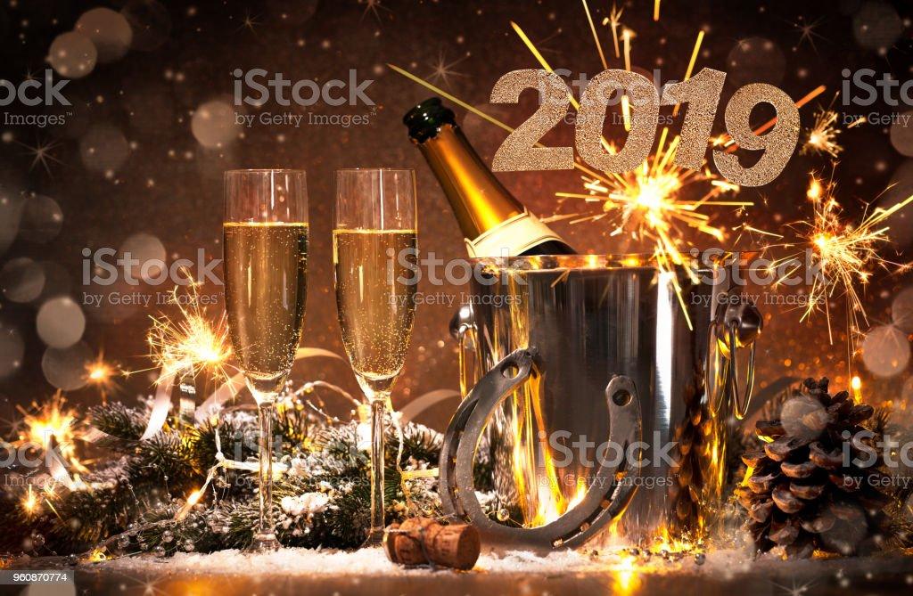 Comemoração de véspera de ano-novo - foto de acervo