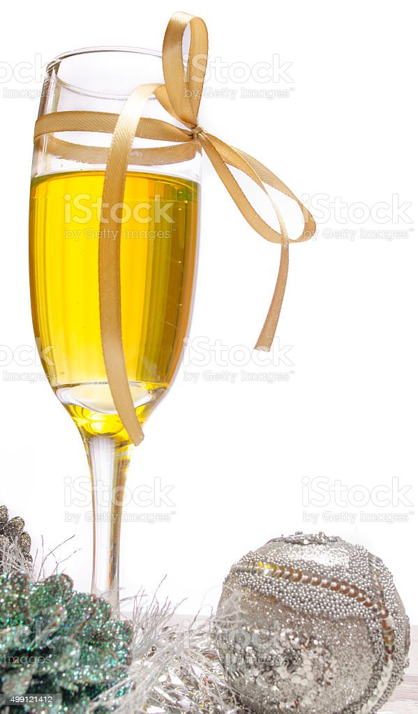 New Years Eve Decorations With Champagne Glass Stock Photo & More ...