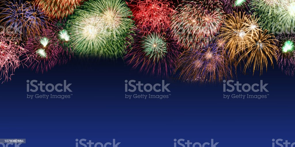 New Year\'s Eve fireworks copyspace copy space banner years year...